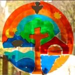 Fensterbild in der Kita Frieden Christi © Kitanetzwerk Bad Godesberg