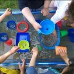 Wasserspiel im Garten der Kita St. Albertus Magnus Fotos: © Kindergartennetzwerk Bad Godesberg